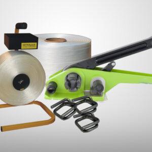 SUPER MOCNY zestaw do pakowania (Napinacz H-22, Taśma WG-60, Klamerki 19 mm, Stojak VISIA)-0