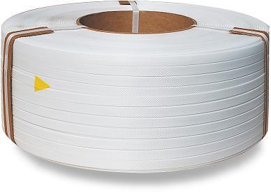 Taśma polipropylenowa PP 09 x 0.55/200/3200 m/biała -0